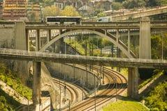 Лабиринт земных сообщений в Лиссабоне, Португалии Стоковая Фотография