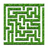 Лабиринт зеленых кустов, сад лабиринта также вектор иллюстрации притяжки corel Iso Стоковое Фото