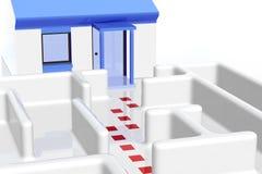 Лабиринт и дом Стоковое Изображение RF