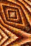 Maze like image of roof tiles Стоковые Фото