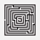 Лабиринт, квадрат Стоковая Фотография