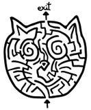 Лабиринт кота иллюстрация вектора