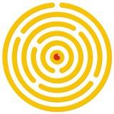 лабиринт круглый стоковая фотография