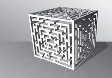лабиринт кубика иллюстрация вектора