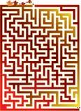 лабиринт осени большой Стоковое фото RF