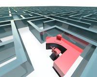 Лабиринт офиса иллюстрация вектора