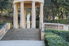 Лабиринт парка и сада, laberint Horta Parc, Барселона стоковое фото