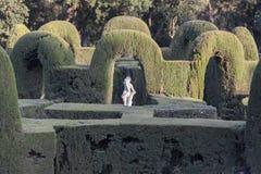 Лабиринт парка и сада, laberint Horta Parc, Барселона стоковое фото rf