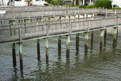 Лабиринт пристаней рыбной ловли Стоковые Изображения
