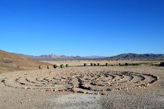 Лабиринт пустыни Стоковые Изображения