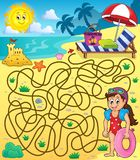 Лабиринт 28 с темой 1 пляжа Стоковая Фотография