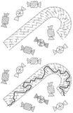 Лабиринт тросточки конфеты бесплатная иллюстрация