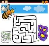 Лабиринт шаржа или игра лабиринта Стоковое Изображение RF