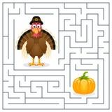 Лабиринт для детей - Турция благодарения Стоковое Изображение RF