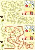 Лабиринт Preschool Стоковые Фото