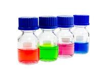Лаборатория испытания решения в бутылке Стоковые Изображения
