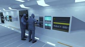 Лаборатория и ученые с масками Стоковое фото RF