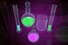 лаборатория оборудования Иллюстрация вектора