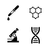 лаборатория Простые родственные значки вектора иллюстрация штока