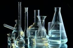 лаборатория склянок Стоковое Фото