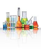 лаборатория стекол для химической посуды Стоковые Фото