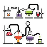 Лаборатория химии Infographic Стоковые Изображения