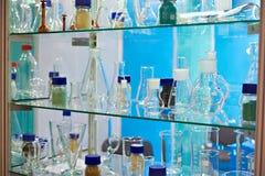 лаборатория химических флаконов Стоковое Изображение