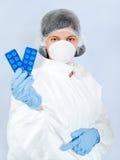 лаборатория 13 девушок Стоковые Фотографии RF