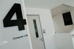 лаборатория 4 компьютеров стоковое фото