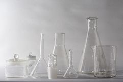лаборатория glasswares Стоковое фото RF