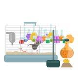 Лабораторное оборудование исследования образования химии, стеклянная лампа научной лаборатории, вектор Стоковое Изображение RF