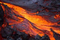 Лава вулкана Стоковое Изображение