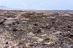 Лава гор пожара Lanzarote Timanfaya вулканическая Стоковые Фото