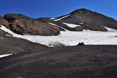 Лава и снег на Исландии Стоковое Изображение RF
