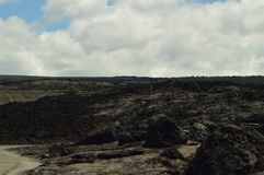 Лава трясет затем извергать вулкан Стоковое Фото