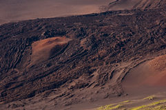 лава haleakala подачи кратера Стоковая Фотография