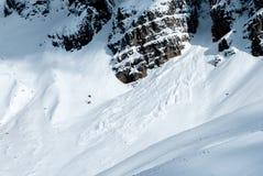 Лавина в высоких горах Стоковые Фотографии RF