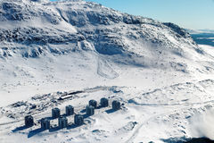 Лавина снега в Qinngorput Стоковая Фотография RF