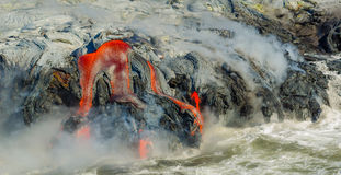 Лавовый поток вулкана Kilauea стоковое фото rf