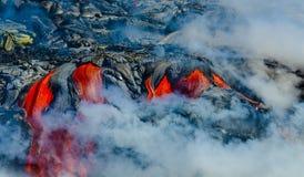 Лавовый поток вулкана Kilauea стоковое изображение rf