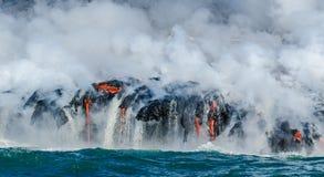 Лавовый поток вулкана Kilauea стоковые изображения