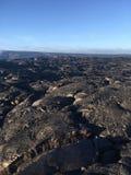 Лавовый поток от вулкана в остров Гаваи океана большой Стоковые Фото