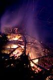 Лагерный костер в woods.JH Стоковое Фото