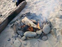 Лагерный костер побережья Орегона Стоковое Фото