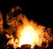 лагерный костер Стоковое Изображение RF