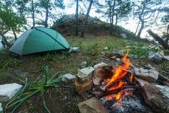 Лагерный костер Стоковые Фото