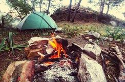 Лагерный костер Стоковая Фотография