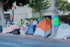 Лагерь активиста во время семей принадлежит совместно марш Стоковые Фото