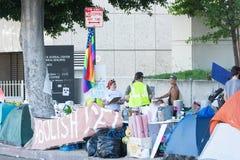 Лагерь активиста во время семей принадлежит совместно марш Стоковая Фотография RF