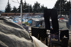 Лагерь беженцев Греция стоковые изображения rf